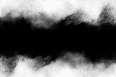 Movimiento del humo en la oscuridad Foto de archivo