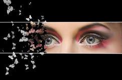 Movimiento del ojo imagenes de archivo