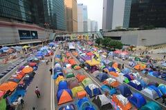 Movimiento del paraguas del Ministerio de marina en Hong Kong fotografía de archivo libre de regalías