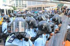 Movimiento del paraguas en Hong Kong Imagen de archivo
