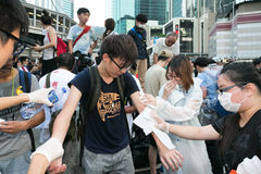 Movimiento del paraguas en Hong Kong Fotografía de archivo libre de regalías