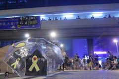 Movimiento del paraguas en Hong Kong Imagenes de archivo