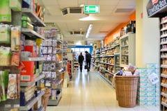 Movimiento del supermercado en Alemania Fotos de archivo