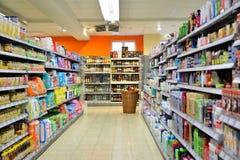 Movimiento del supermercado en Alemania Imagen de archivo libre de regalías