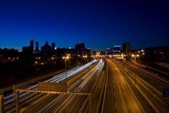 Movimiento en la noche Fotos de archivo