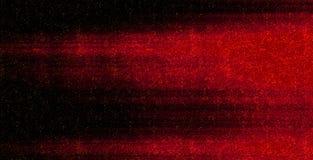 Movimiento enmascarado Líneas que brillan intensamente de neón horizontales rojas con las partículas de pintura aisladas en fondo ilustración del vector