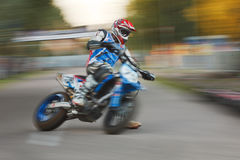 Movimiento enmascarado moto Fotografía de archivo libre de regalías