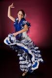 Movimiento español en azul Fotografía de archivo libre de regalías