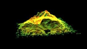 Movimiento grande de la visualización de los datos metrajes