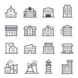 Movimiento intrépido del icono del edificio