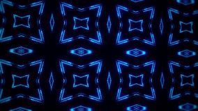 Movimiento llevado azul BackgroundGree del lazo del caleidoscopio VJ de las partículas que brilla intensamente ilustración del vector