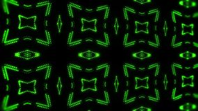 Movimiento llevado verde BackgroundGree del lazo del caleidoscopio VJ de las partículas que brilla intensamente ilustración del vector