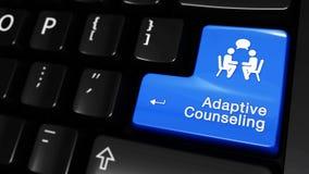 Movimiento móvil de asesoramiento adaptante en el botón del teclado de ordenador libre illustration