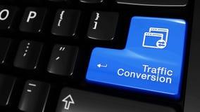 434 Movimiento móvil de la conversión del tráfico en el botón del teclado de ordenador stock de ilustración