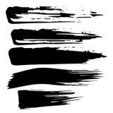 Movimiento negro de la brocha en el fondo blanco libre illustration