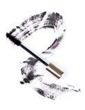 Movimiento negro del cepillo del rimel Foto de archivo libre de regalías