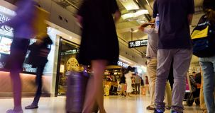 Movimiento ocupado de la muchedumbre rápidamente y no parada, Timelapse metrajes