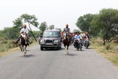 Movimiento político de BJP en la India Fotos de archivo libres de regalías