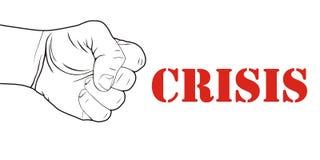 Movimiento por la ilustración de la crisis Fotografía de archivo libre de regalías