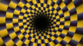 Movimiento propio de giro hipnotizado de la rotaci?n stock de ilustración