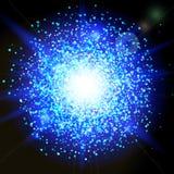Movimiento propio de las partículas del brillo Textura chispeante ilustración del vector