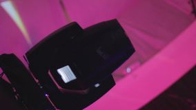 Movimiento rápido del programa de ejecución ligero del lazo del club dinámico Luces de torneado almacen de video