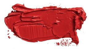 Movimiento rojo de la brocha del aceite stock de ilustración