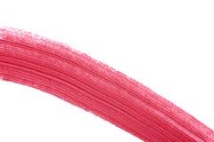 Movimiento rosado del cepillo del lápiz labial Fotografía de archivo libre de regalías