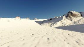Movimiento sobre las montañas nevosas stock de ilustración
