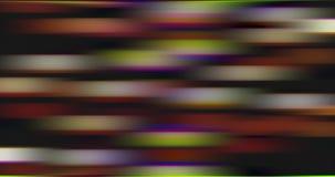 Movimiento torcido y borroso de luces brillantes multicoloras metrajes