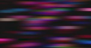 Movimiento torcido y borroso de luces brillantes multicoloras almacen de video