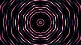 Movimiento universal del color del círculo del pixel del bloque del fondo de la animación del nuevo día de fiesta móvil rosado su stock de ilustración