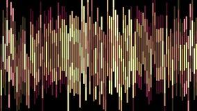 Movimiento universal del color del pixel del bloque del fondo de la animación del nuevo día de fiesta vertical móvil marrón suave stock de ilustración
