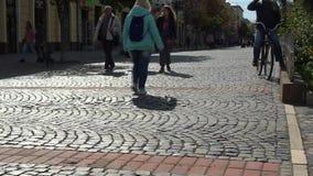 Movimiento urbano Vida de ciudad almacen de metraje de vídeo