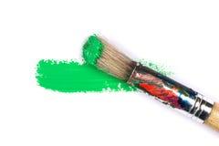 Movimiento verde del cepillo de pintura foto de archivo libre de regalías