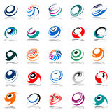 Movimiento y rotación espirales. Elementos del diseño. Fotos de archivo libres de regalías