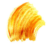 Movimientos anaranjados brillantes de la brocha del oro Foto de archivo libre de regalías