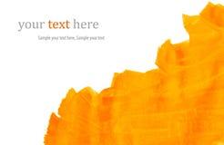 Movimientos anaranjados de la pintura Imágenes de archivo libres de regalías