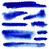 Movimientos azules de la pintura del watarcolor stock de ilustración