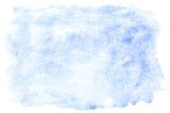 Movimientos azules del cepillo de la acuarela Imágenes de archivo libres de regalías