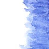 Movimientos azules del cepillo de la acuarela Fotografía de archivo