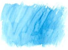Movimientos azules del cepillo de la acuarela como fondo Foto de archivo libre de regalías