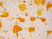 Movimientos beige anaranjados del cepillo del oro del vintage del invierno, fondo ceroso, diseño creativo foto de archivo
