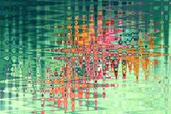 Movimientos caóticos brillantes del cepillo del zigzag en un fondo verde Fotos de archivo