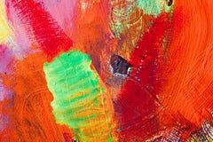 Movimientos coloreados de la pintura Fondo del arte abstracto Detalle de una obra de arte Arte contemporáneo Textura colorida pin Imágenes de archivo libres de regalías