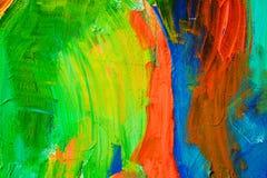 Movimientos coloreados de la pintura Fondo del arte abstracto Detalle de una obra de arte Arte contemporáneo Textura colorida pin Fotos de archivo