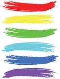 Movimientos coloreados del cepillo Imágenes de archivo libres de regalías