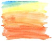 Movimientos coloridos abstractos del cepillo de la acuarela. Imagen de archivo