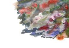 Movimientos coloridos artísticos del cepillo de la acuarela foto de archivo libre de regalías
