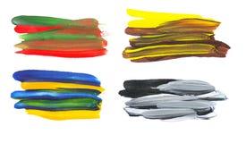 Movimientos coloridos artísticos del cepillo de la acuarela imagen de archivo libre de regalías